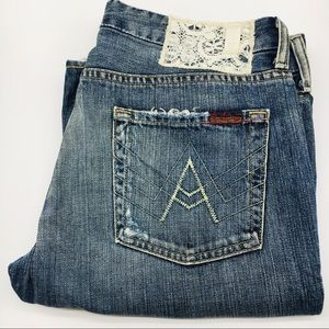 29 7FAM A Pocket Jeans For All Mankind Lace Patch